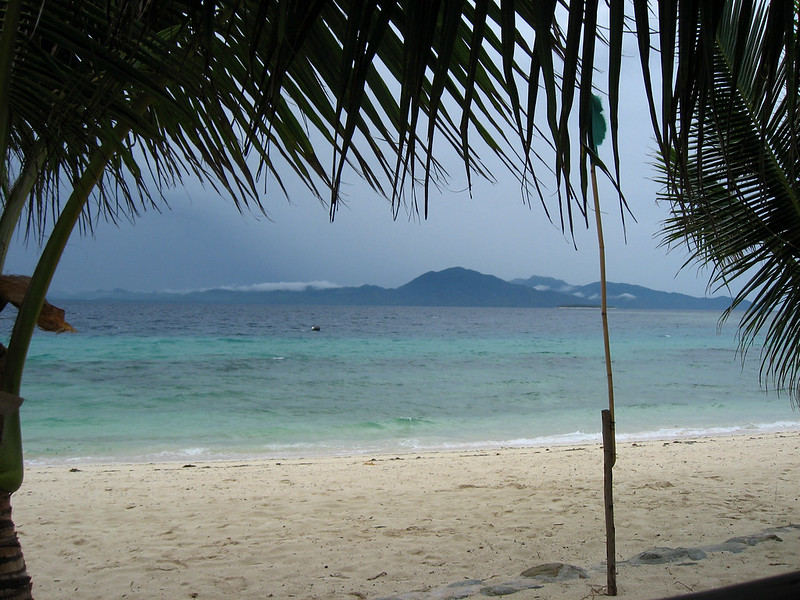 View from my Bungalow of Palawan island