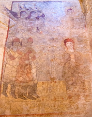 Dadivank monastery Discovered and restored fresco panel