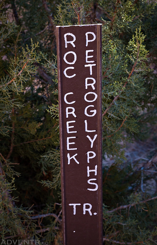 Roc Creek Petroglyphs Trail Sign