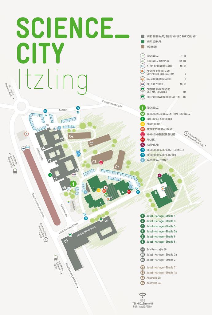 Lageplan Techno-Z & Science City