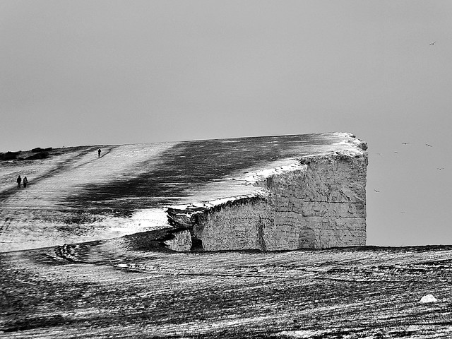 Beachy Head with a dusting of snow