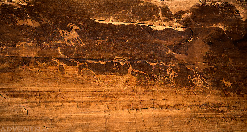High Petroglyph Panel