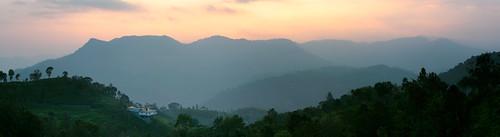 nikon nikonusa nikkor d3300 mountain india westernghats ghats rural landscape fog cloud sunset panorama