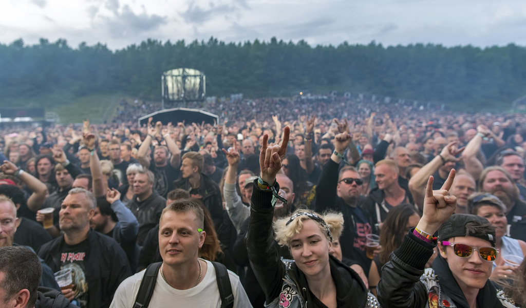 Copenhell crowd before Saxon
