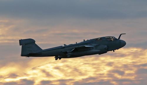 usmc usmarinecorps grumman ea6b prowler buaerno 163527 charlestoninternationalairport southcarolina jet sunset