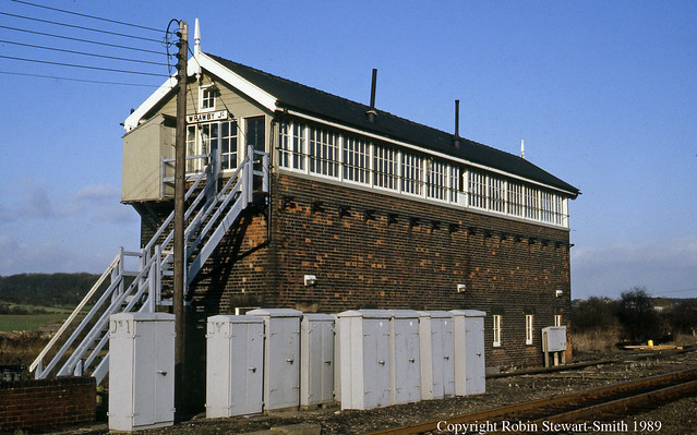 LNER Wrawby Junction Signal Box - GCR Type 5 1916 137 levers - 14th January 1989