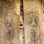 Ancient stone Armenian khachkars