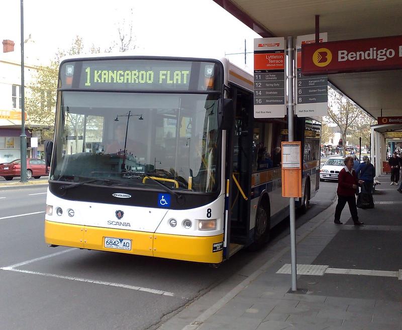 Bendigo bus to Kangaroo Flat