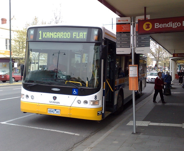Bendigo bus to Kangaroo Flat