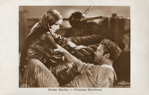 Greta Garbo and Charles Bickford in Anna Christie (1930)