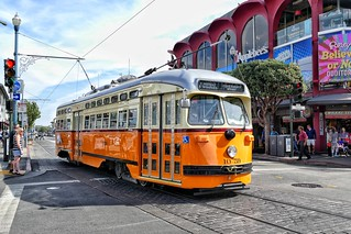 Historic Streetcars in San Francisco No.1059.