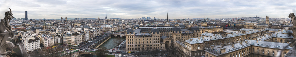 Panorama of Paris from Notre Dame