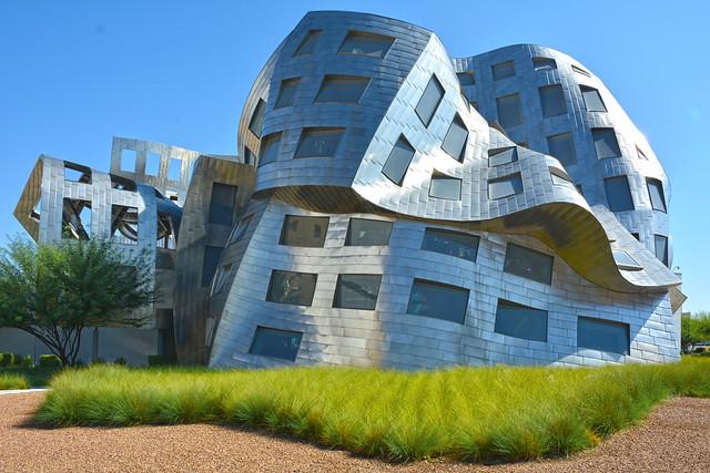Las Vegas Nevada, USA September 11, 2014 Modern architecture. Cleveland Clinic Lou Ruvo Center for Brain Health.