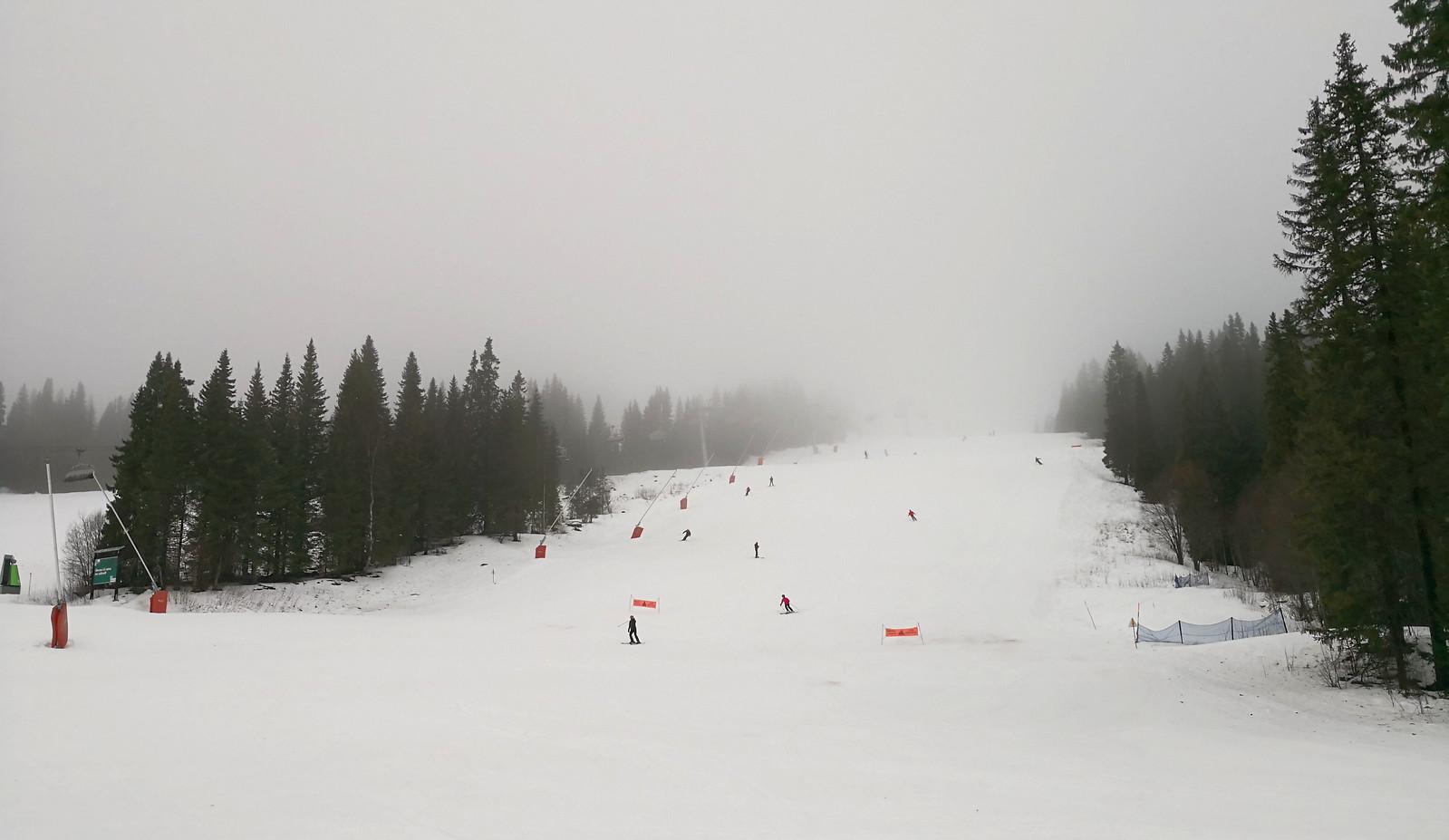 Mild blue slopes in Björnen