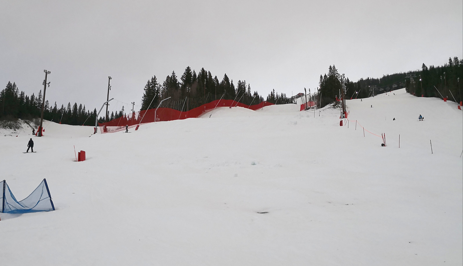 Black piste to the Race Arena