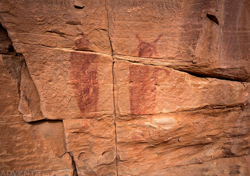 Faded Barrier Canyon Style Pictographs