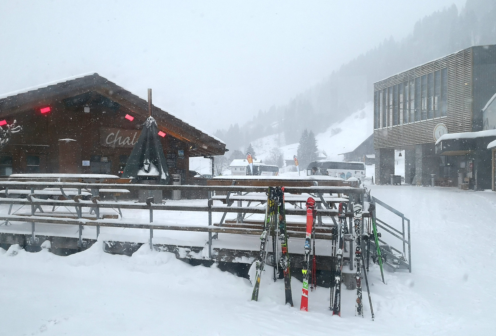 Chalet lodge at the base station