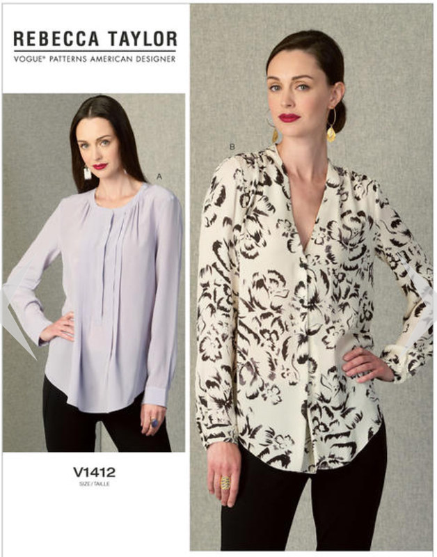 V1412 Vogue blouse pattern env