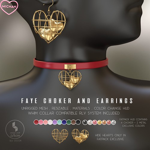 Faye Choker and Earrings