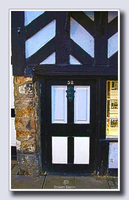 Doorway, The Tudor House, 32 Castle Street, Beaumaris, Anglesey, Wales UK  c.1416