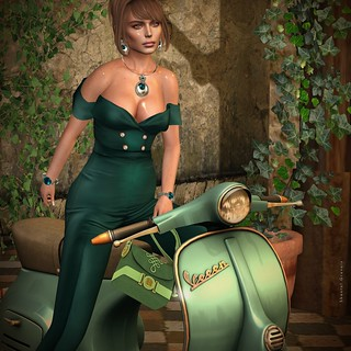 Until the end of the world with my Vespa! | by MISS VIRTUAL ♛ WORLD 2018 - Shantal Gravois