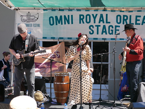 Luna Mora at French Quarter Fest - 4.14.19. Photo by Louis Crispino.
