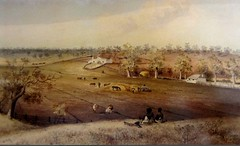 Floraville farm  property W Younghusband 1847  painting by  Gill