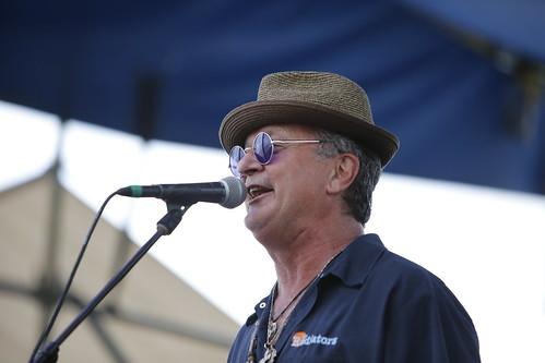 Paul Sanchez  at French Quarter Fest - 4.13.19. Photo by Michele Goldfarb.