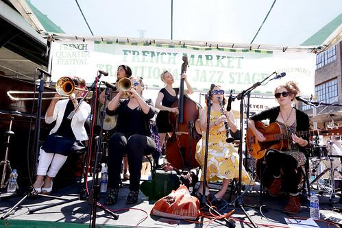 Shake 'Em Up Jazz Band at French Quarter Fest - 4.14.19. Photo by Bill Sasser.