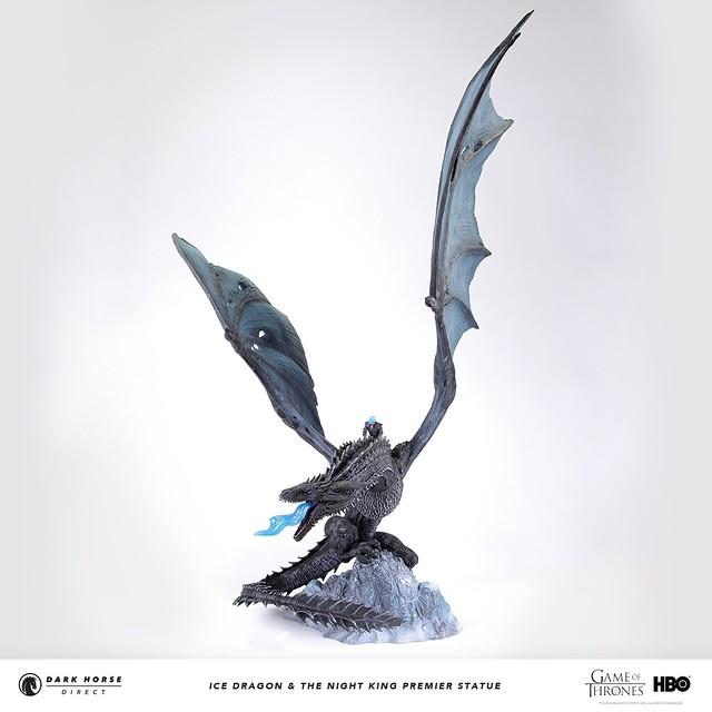 Dark Horse《冰與火之歌:權力遊戲》冰龍&夜王 Ice Dragon and The Night King 全身雕像作品
