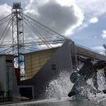 Tom Finney statue and Preston North End Football Stadium