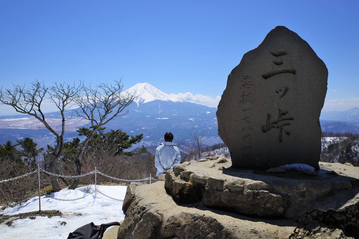 三ッ峠山山頂(開運山)
