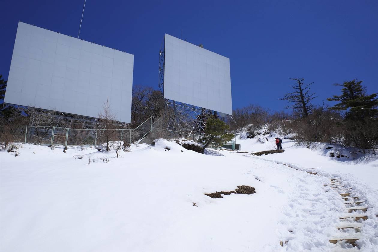 三ッ峠山のソーラーパネル