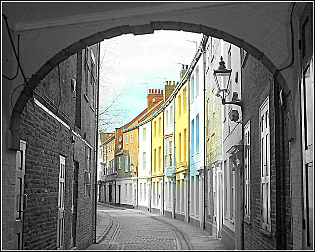Prince Street in Hull City ..