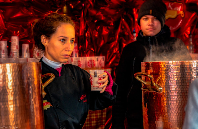 Various Forms of hot drinks are found at the Christmas Market Next to the Cathédrale Notre-Dame de Rouen, Rouen, France62a