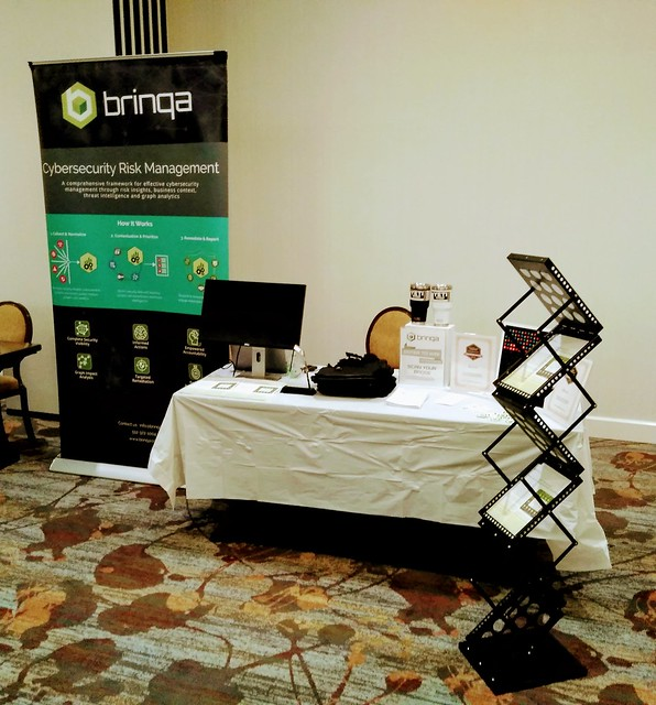 Brinqa Booth at Data Connectors Dallas April 2019