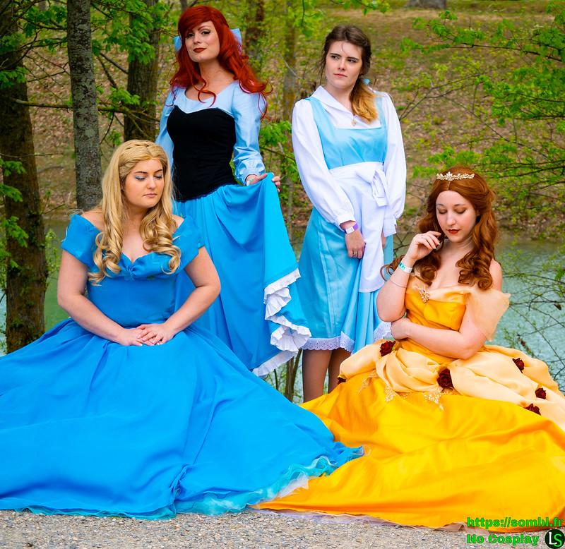 4 princesses Disney
