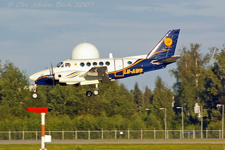 Airwing King Air A100 LN-AWB at ENGM/OSL 03-08-2007 | by Ole Johan Beck