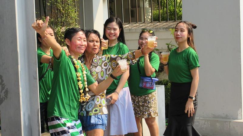 Songkran celebration Vientiane
