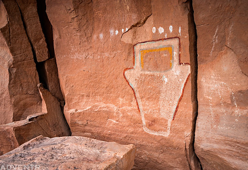 Colorful Fremont Pictograph