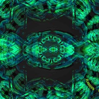 "Neon digital nuance ""in green""   by D.Langevin"