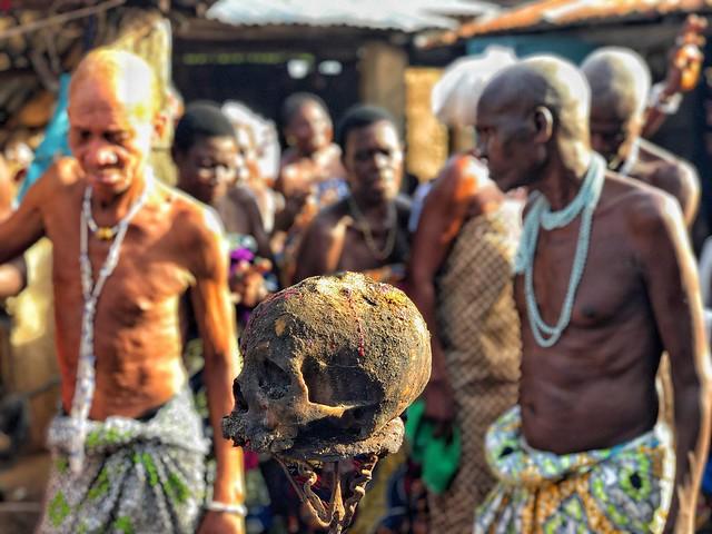 Ritual vudú en Benín