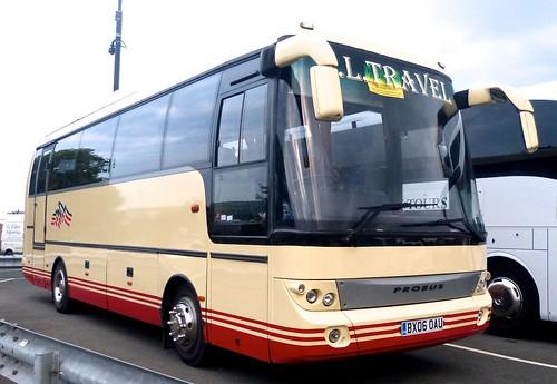 BX06 OAU 'CL Travel'. BMC 850 Probus on Dennis Basford's railsroadsrunways.blogspot.co.uk'