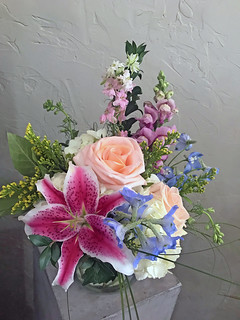 Administrative Professionals Week — Photo Courtesy Carolyn Minutillo AIFD, EMC, PFCI, of Lavender Hill LLC in Jeffersonville, Indiana | by Flower Factor