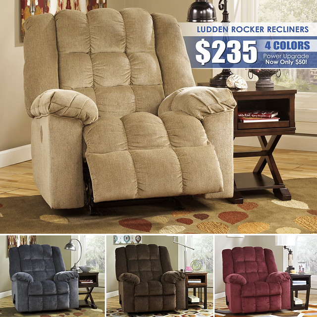 Ludden Rocker Recliner Collage_Clearance