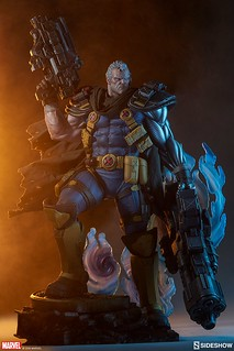 巨大雙槍超霸氣!! Sideshow Collectibles Premium Format Figure Marvel Comics【機堡】Cable 1/4 比例全身雕像作品 普通版/EX版