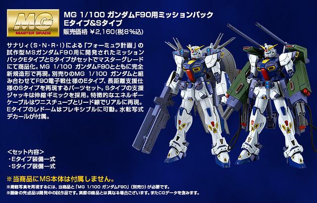 26種任務背包全部商品化!?MG 1/100 《機動戰士鋼彈F90》鋼彈 F90 用 E 型 &S 型任務背包擴充套組(ミッションパック Eタイプ&Sタイプ)