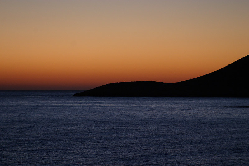 Crete, Stavros mountain, after sunset
