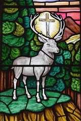 St Hubert's stag (Walter Luxford, 1954)