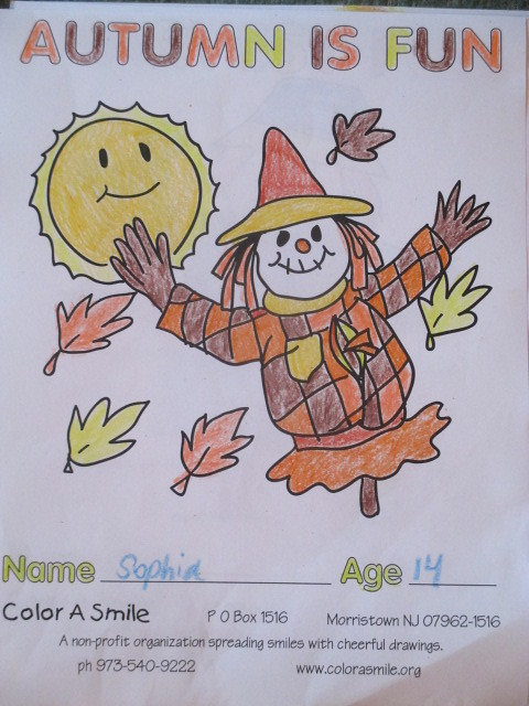Color-a-Smile Coloring Sheet